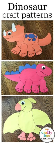Adorable craft patterns for a dinosaur unit.  Patterns are large scale and very easy for kids to cut.