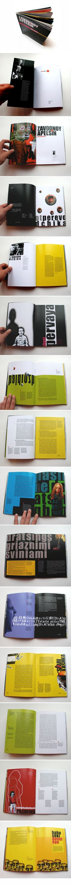 """A Clockwork Orange"" by Anthony Burgess (Part 1) Book Design 2008  maximdesigner.com"