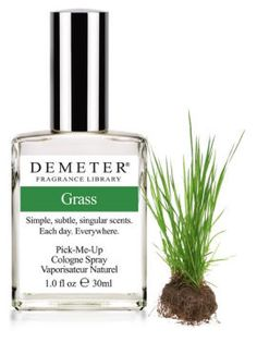 Seriously want to get some of this stuff - assuming it actually smells like grass. Love that this company has tons of quirky scents for their perfumes/colognes.