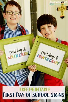 Free First Day of School Printables   Available in preschool through 12th grades…