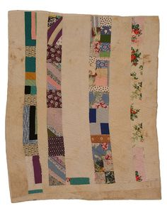 Strip Quilt, 1965 . by Alabama quiltmaker Susana Allen Hunter (1912 – 2005)