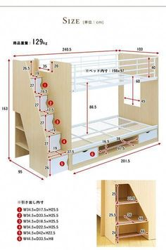 Bunk Beds King Over Twin Bunk Beds Dhp Twin Over Full - Diy furniture beds Bunk Bed Rooms, Bunk Beds Built In, Cool Bunk Beds, Bunk Beds With Stairs, Twin Bunk Beds, Kids Bunk Beds, Home Room Design, Kids Room Design, Kids Bedroom Furniture