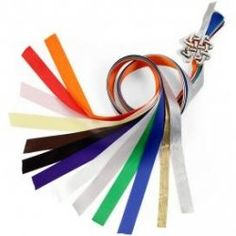 handfasting ribbons - these colors make it the Celtic tradition