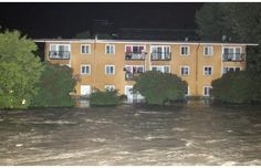 The Elbow River floods an apartment building along it's shore in Mission shortly after midnight early Friday morning June Photograph by: Ted Rhodes, Calgary Herald Bragg Creek, Kindness Of Strangers, Dramatic Photos, Banff, Calgary, Friday Morning, Canada, Backyard, The Incredibles