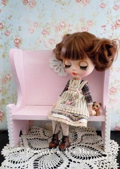 Blythe 3 PC Outfit. Includes a Plaid Dress by WhimsiesOnTheMoon