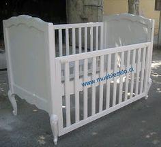 muebles de bebe: cuna provenzal