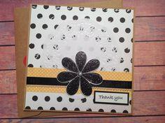 Thank you card, Handmade card, Kraft card, doily card, polka dot card, blank cards by PinkyPromiseBargains on Etsy