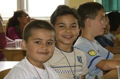 Roma boys in Prokuplje, Serbia