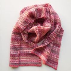 Een shawl in Tunisch haakwerk  Tunesian crochet shawl