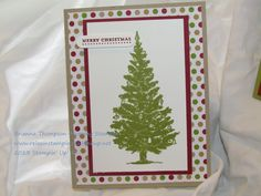 Stampin' Up Christmas card, Special Season
