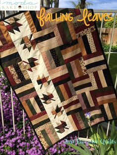 This gorgeous quilt will have you ready for fall before the leaves start changing!