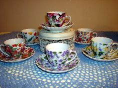 Fancy Tea Cups by turtlepatrol, via Flickr