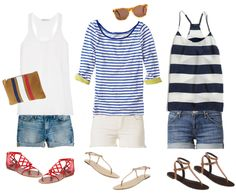 simple spring outfit, shorts and striped shirt, stripe shirt outfits, striped spring shirts, denim short outfits