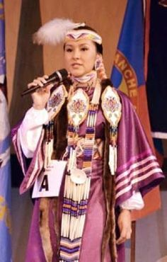 Native Americans Indians 18-year-old Naivitsi Yabeney, 2013 Miss Shoshone-Bannock contestant