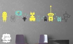 Robot Wall Decal Boy Nursery Ideas