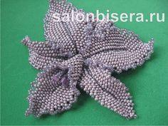 Орхидея (мозаичное и кирпичное плетение) | biser.info - всё о бисере и бисерном творчестве