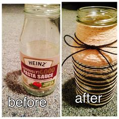 Before and After Bow Rope Jar