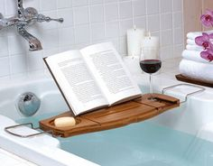 Bath time reading! I would LOVE this!!
