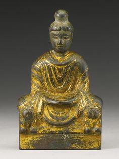 十六國 四 / 五世紀 銅鎏金佛坐像 | Lot | Sotheby's