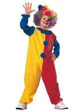 Child Carnival Clown Party Fancy Dress Costume Circus Jester Kids Boys Girls BN
