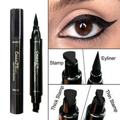 Eyeliner Strong-Willed Eyeliner Double Head Durable Waterproof Black Wing Seal Eyeliner Eye Makeup Beauty Pencil Tool Maquillage Skilful Manufacture Back To Search Resultsbeauty & Health