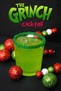 We just got done sharing the kids Grinch Ice Cream Float recipe so how about a nice adult beverage Grinch Cocktail recipe. We just got done sharing the kids Grinch Ice Cream Float recipe so how about a nice adult beverage Grinch Cocktail recipe. Christmas Drinks Alcohol, Christmas Party Drinks, Christmas Snacks, Holiday Drinks, Christmas Christmas, Christmas Shots, Christmas Games, Outdoor Christmas, Cocktail