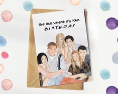Friends The One Where It's Your Birthday - Friends Festive Christmas Card for him and her Christmas Wrapper, Funny Christmas Cards, Christmas Gift Wrapping, Gift Wrapping Paper, Birthday Greeting Cards, Birthday Greetings, Friend Birthday, It's Your Birthday, Friends Tv Show