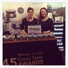 Sales & Marketing team, Kate & Katie B on the Hawkshead Relish IFE exhibition stand! #embellishwithrelish #ife13