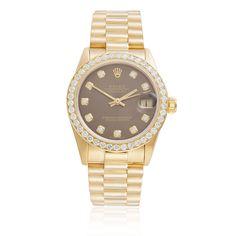 18k Yellow Gold Ladies' Rolex DateJust 2.5ct Diamond Bezel Watch - Shyne Jewelers