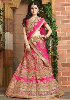 Elegant Rani Pink Bridal Lehenga Set  https://www.ethanica.com/products/elegant-rani-pink-bridal-lehenga-set