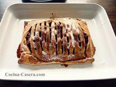 Celosía de Manzana. Pastel sencillo de hojaldre   Recetas de Cocina Casera