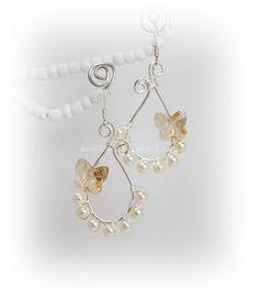 handmade wire earrings | MOLECULE HANDMADE JEWELRY: Butterfly Lover