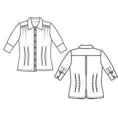Блузка - выкройка № 107 из журнала 1/2011 Burda – выкройки блузок на Burdastyle.ru