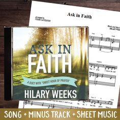 """Hilary Weeks has written an amazing duet for the 2017 LDS Mutual Theme! You will love this incredible duet that contains an original verse by Hilary Weeks along with the popular hymn """"Sweet Hour of Prayer"""". Add this to your personal library, sing with your youth group, or use it as a theme song for Girl's camp or other significant event.  This package contains the follow products from Hilary Weeks:  Ask in Faith - Song Ask in Faith - Minus Track(instrumental - no words) Ask in Faith…"""