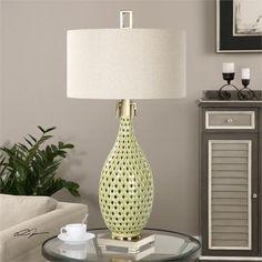 Uttermost Chamoru Green Glaze Lamp (27082-1)