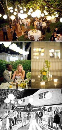 backyard wedding with dance floor idea