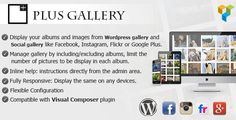 Plus Gallery v3.0.4  A Responsive Photo WP Gallery and Social