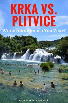 Krka vs Plitvice, Krka or Plitvice Croatia Itinerary, Croatia Travel Guide, Europe Travel Tips, European Travel, Travel Guides, Travel Destinations, Holiday Destinations, Italy Travel, Cool Places To Visit