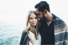 #Beach #engagement session. #Neutralcolors. #Blanket. #Romantic. #Sunset. #Ocean #Fullerton #SealBeach // Aubree Lynn Photography