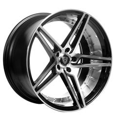 dc1a8207b85 Staggered MQ Wheels 3258 Black W Polish Inner Deep Concave. Audio City USA