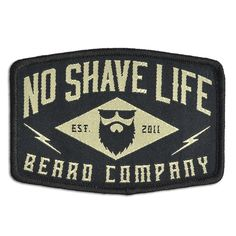 No Shave Life Beard Co. NSL Flash Woven Label Patch