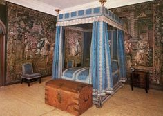 The Blue Bed Chamber - Hardwick Hall - Derbyshire - England