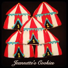 Circus Cookies  By Jeannette's Cookies