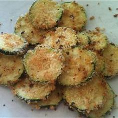 "Baked Zucchini Chips | ""Delicious. East to make, healthy and a hit with the whole family. Just did it as the recipe states, no changes."""
