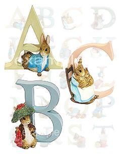 Beatrix Potter Alphabet 2 Digital Collage by Cloud9Kreations
