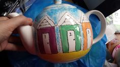 Other side of seaside teapot