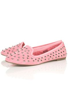studded canvas flats from topshop