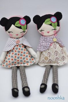 Dolls. cute kawaii fabric plushie dolls