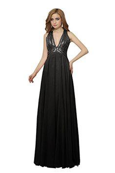Dora Bridal Women Deep V-Neck Chiffon Bridesmaid Prom Party Dress Size 2 US Black Dora Bridal http://www.amazon.com/dp/B014F4AYRU/ref=cm_sw_r_pi_dp_Wxzlwb05N0CMM