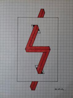 Graph Paper Drawings, Art Drawings Sketches Simple, Easy Drawings, Illusion Drawings, Illusion Art, Geometric Sculpture, Geometric Art, Beautiful Girl Drawing, Pixel Art Templates